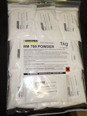 Karcher RM760 Press & Ex Powder 1Kg (apprx) Packeted in convenient 100g ready to use bags